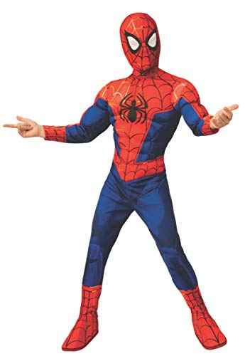 Rubie s Spider-Man: Into The Spider-Verse Child s Deluxe Peter Parker Spider-Man Costume, Small