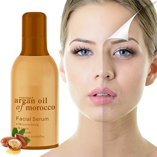 Symeas Argan Essential Oil Sérum pour le visage anti-rides et anti-âge raffermissant et doux pour la peau et la peau