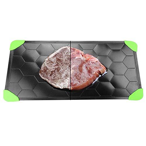 Plato descongelador mágico Bandeja de descongelación de Carne para Alimentos congelados Descongelación de Gran tamaño Alimentos como Pollo Carne Pescado Langostinos Tocino