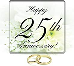 Happy 25th Anniversary: Guest Book. Free Layout Message Book For Family and Friends To Write in, Men, Women, Boys & Girls / Party, Home / Use Spaces ... size (Anniversary Guest Books) (Volume 38)