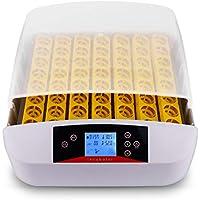 Nakey Incubadora de huevos digital inteligente automática con pantalla LED de temperatura y sensor de temperatura preciso con LED 56 huevos
