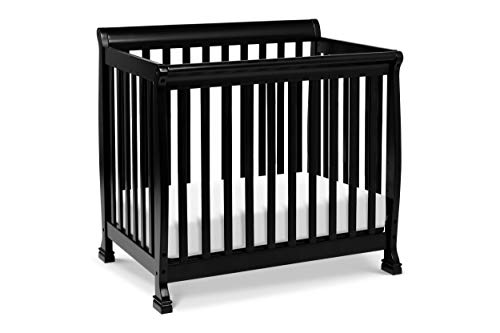 DaVinci Kalani 4-in-1 Convertible Mini Crib in Ebony,...