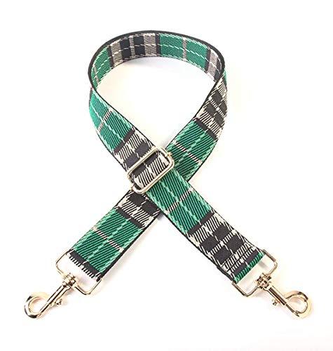 Retro a Cuadros Lienzo Cinturón Ancho de Mano Ajustable de Bag Lady Bolsa de Accesorios, 5, un tamaño