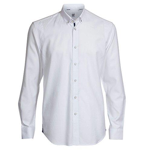 CR7 Cristiano Ronaldo, Herren Hemd, shirt Slim fit, size 2XL, Weiß-Blau/Gemustert, 8677728001XXL