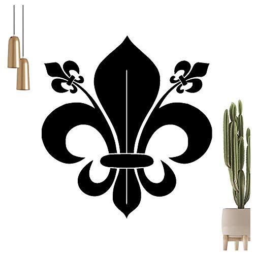 französische Lilie Wandtattoo in 6 Größen - Wandaufkleber Wall Sticker