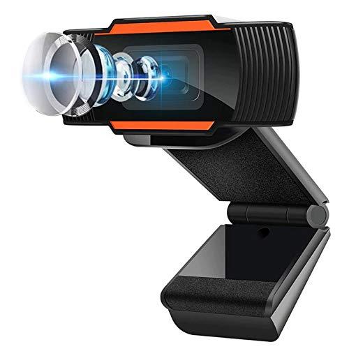 1080P HD Cámara Web, MTQ Webcam de Conferencia USB Ajustable con Micrófono Incoprado para Videollamadas Computadora Portátil Cámara para OBS Xbox XSplit Skype Facebook Compatible con Mac OS Windows 10/8/7