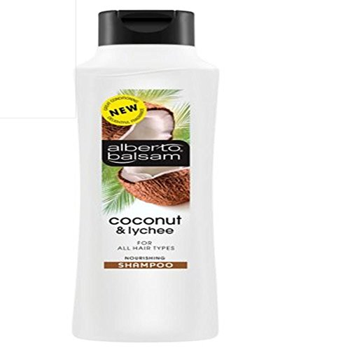 Alberto-Balsam-Coconut-Lychee-Shampoo-350ml Fancy an exotic escape? This heavenly scented coconut & lychee shampoo nourishes your hair and adds shine. by Alberto Balsam