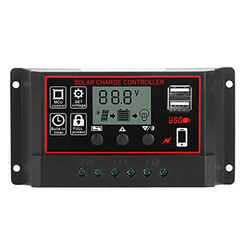 East buy Controlador de Carga Solar, Controlador de Carga Solar 30A, Pantalla Digital, Instrumento fotovoltaico, regulador Inteligente