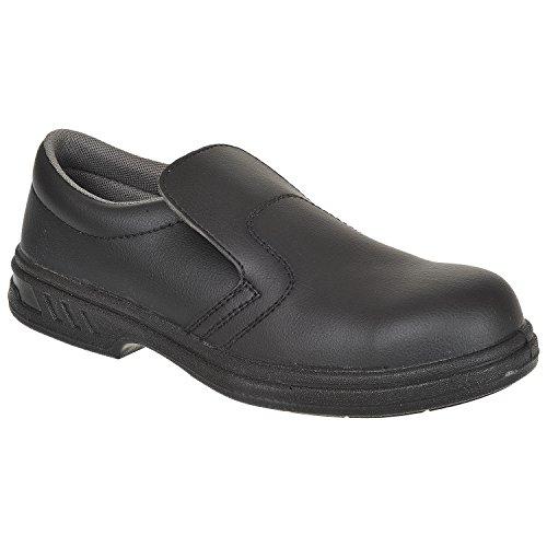 Portwest FW81 - Slip-On de seguridad S2 Zapato, color Negro, talla 34