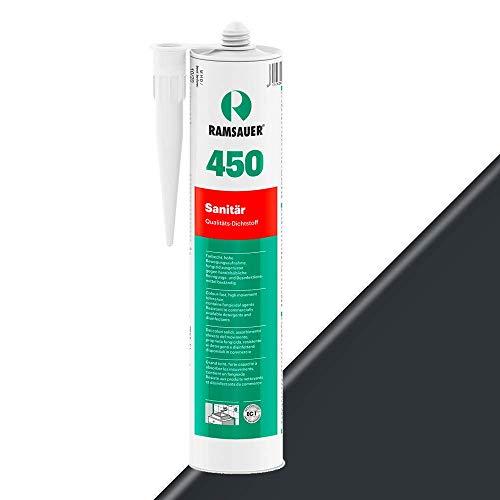 Ramsauer 450 Sanitär 1K Silikon Dichtstoff 310ml Kartusche (Dunkelanthrazit)
