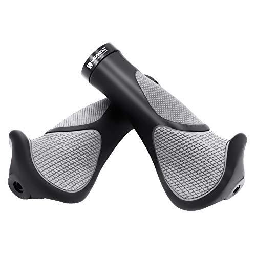 Weanas Bike Handlebar Grips, New Generation Ergonomics Comfort Design Mountain Bike Grips with G2 Screw Lock 1 Pair for Bicycle MTB BMX Cyling