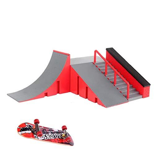 Fingerboard Ramp Park Skatepark Ramps Skate Park Kit Finger Skateboard Ramp Set Style C Household Products