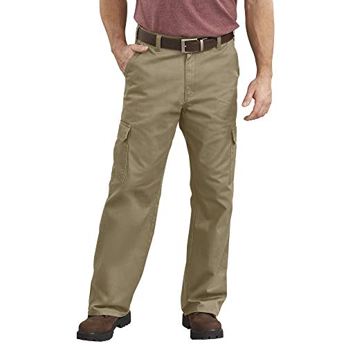 Dickies Men's Loose-Fit Cargo Work Pant, Khaki, 42W x 30L