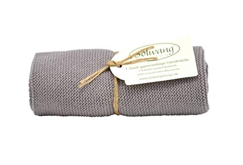 Solwang Handtuch in Grau, Küchentuch aus Baumwolle in