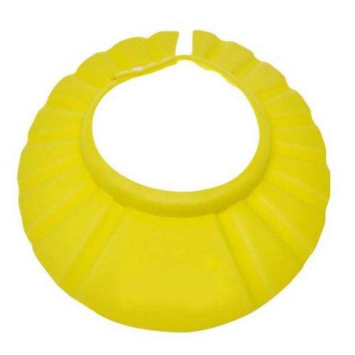 Malloom 1 PCS del bambino regolabile Bambino Waterproof Eye Shield Shower Cap cappello Colore Blu Rosa Giallo (Giallo)