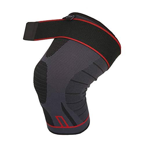 ArthritisHope Strap Knee Compression Sleeve (5XL) - Knee Compression Sleeve with straps for Knee Pain, Running, Weightlifting, Arthritis, Osteoarthritis , Rheumatism, Sports, Gym, ACL (Men and Women)