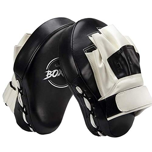 Valleycomfy Boxing Curved Focus Punching Mitts- Leatherette Training...