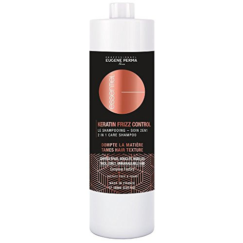 EUGENE PERMA Professional Shampoo 2-in-1 Keratin Frizz Control Anti-Frisotti, voor haren, brood, bouclés/rebelles, 1 l