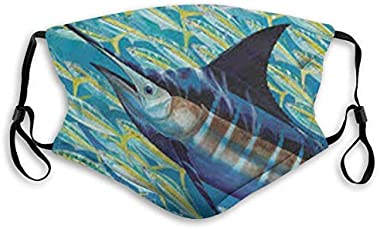 190 Face Cloth 5 Layer Shiled Facial Reusable Guy Harvey Fish Protect Air Pollution Man Kids with Filter Kids