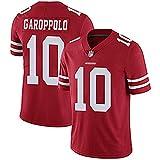 WASDQE GAROPPOLO10# Kittle85# San Francisco 49ers Rugby vêtements brodé Haut Maillot de Football américain-red10-XXXL