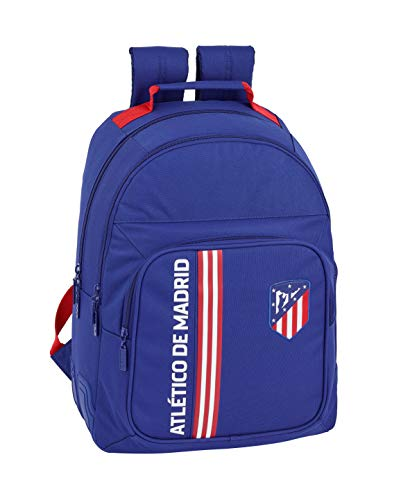 "Atletico de Madrid 611945773 - ""In Blue"" Oficial Mochila Escolar, Azul Marino, 320x150x420mm"