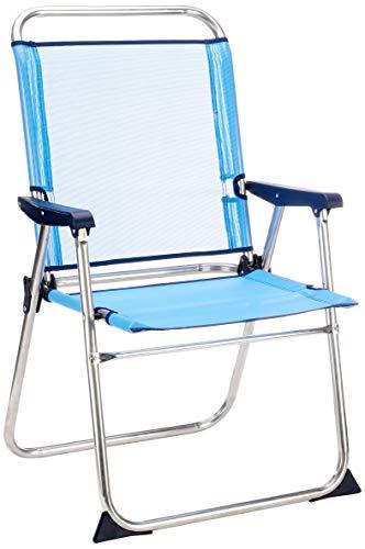Solenny 50001072725229 8434826105229-Silla de Playa Plegable Marinera con Respaldo Alto Azul
