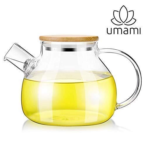 Umami Original teiera in vetro 850ml–Caraffa a acqua o ha Aranciata | lavabile in lavastoviglie | sostenibile, sano & Design