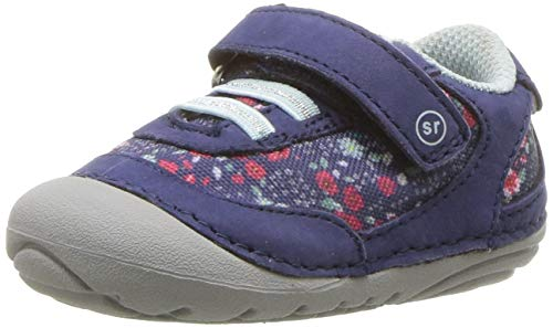 Stride Rite Girls Jazzy Baby Athletic Mesh Sneaker, Navy/Multi, 3.5 W US Infant
