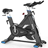 L Now Indoor Cycling Bike Indoor Exercise Bike Stationary- Belt Drive with 44LBS Stable Flywheel,Heart Rate