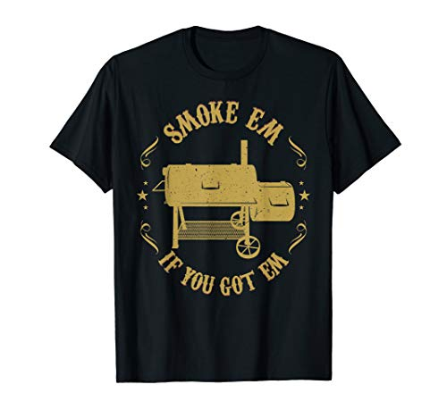 Funny BBQ Pit Reverse Flow Smoker Accessory Dad Gift Men T-Shirt