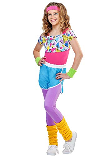 Work It Out 80s Costume Retro Workout Outfit for Girls X-Small