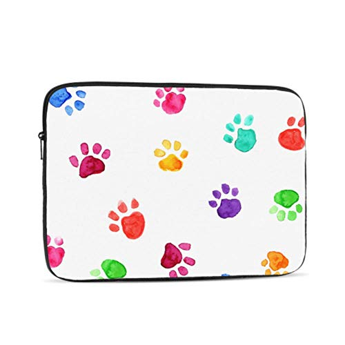 Macbook Hard Case Cat Paw Lovely Pet Run Jump Footprint A1706 Macbook Pro Case Multi-Color & Size Choices10/12/13/15/17 Inch Computer Tablet Briefcase Carrying Bag