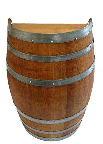 oak wine barrel table - 3
