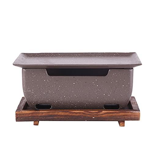 Parrilla de carbón, estilo japonés, parrilla de cocina rectangular antiadherente Yakatori, parrilla compacta de aleación de aluminio para dos personas que cocinan picnic (gris, 9.8x5.8x4.8 inch)