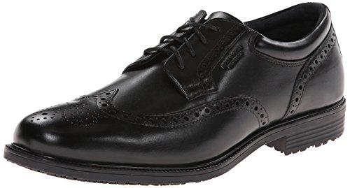 Rockport Men's LTP Wing Tip Black WP Leather Oxford 9.5 W (EE)-9.5 W