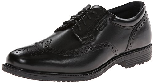 Rockport mens Ltp Wing Tip oxfords shoes, Black Waterproof Leather, 14 US