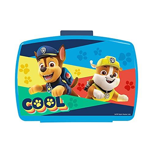 P:os 28227 - Brotdose für Jungen und Mädchen mit Einsatz im beliebten Paw Patrol Design in Blau, ca. 17 x 13,5 x 5,5 cm groß, aus Kunststoff, bpa- und phthalatfrei