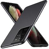 TOPACE Kompatibel mit Samsung Galaxy S21 Ultra Hülle,Superdünne Handyhülle Samsung S21 Ultra Hülle Slim Leicht Anti-Fingerabdrucke Anti-Kratzer Matte Schutzhülle kompatibel mit S21 Ultra (Schwarz)