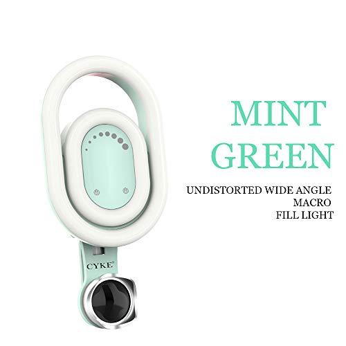 Mettime de Autodisparador móvil de llenado de luz, 9Modos Ajustables Claro de Alta luz Completa, sin Objetivo, Verde