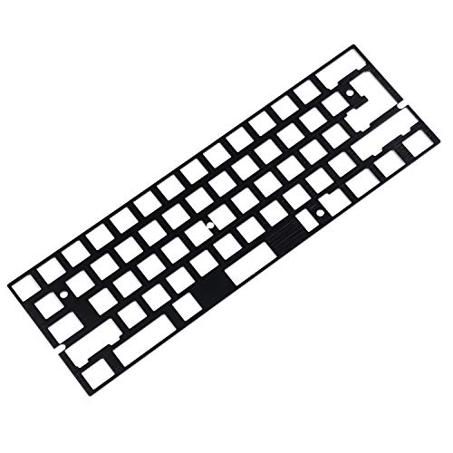 CNC aluminium brush finish anodised positioning plate, for GH60 60% keyboard supports DIY ISO ANSI WKL Layout