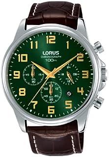 ساعة اوربان كرونوغراف بسوار جلدي للرجال، موديل RT339GX9 من لوراس