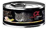 Alpha spirit Alimento Completo Húmedo para Gatos Conejo con Plátano - Paquete de 12 x 85 gr - Total: 1020 gr