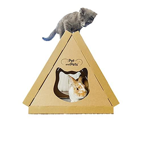 Pet and Pets ティッピーピーク [ 猫 おもちゃ/猫 つめとぎ 3個付き / うさぎ 小動物 対応/高圧縮紙で頑丈/米ブランド ] キャットハウス キャットタワー ミニ 猫のおもちゃ 猫おもちゃ トンネル ねこ おもちゃ 猫 ベッド ダンボール