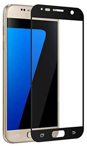 Mobizworld Premium ultra clear, 9H hardness,2.5D Curved, shatterproof, anti explosion, scratch free, bubble free, oil resistant, reduced fingerprint tempered glass black screen protector for Vivo V5 Plus