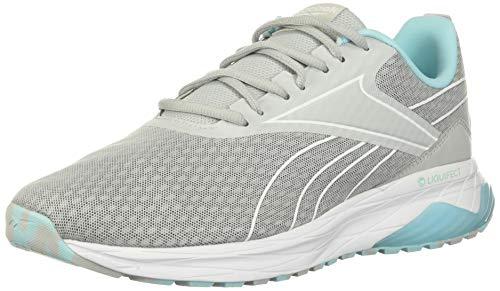 Reebok womens Liquifect 180 2.0 Running Shoe, Pure Grey/Digital Glow/True Grey, 7.5 US