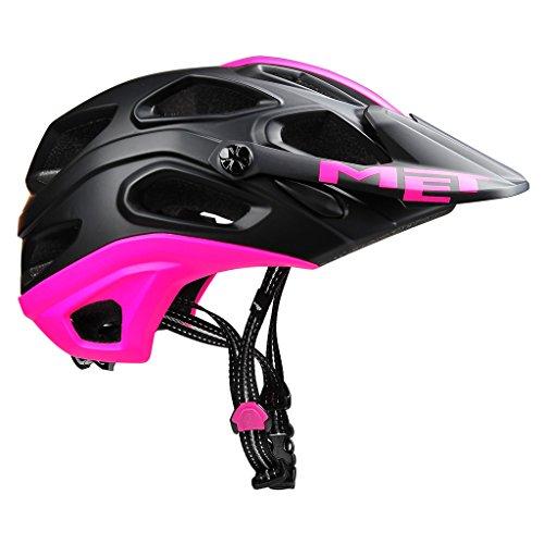 MET Lupo - Casco de Bicicleta - Rosa/Negro Contorno de la Cabeza 59-62 cm 2016