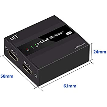 D DOLITY Ultra HD 4K 4-Port HDMI Splitter Full HD 3D 1080p Video HDMI Switch Switcher Black 1Pack