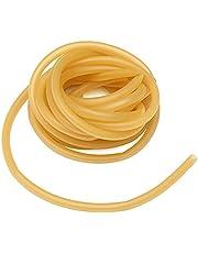 Tubo de Caucho, de Alta flexibilidad Tubo de Caucho Natural de látex Puro 6x9 mm, 3 Metros de Longitud, Amarillo, para tirachinas, Ayudas para Entrenamiento físico, etc.
