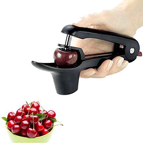 TKSTAR Snocciolatore per Ciliegie e Olive Professionale,【Food Grade Silicone Cup】 CM01 Nero