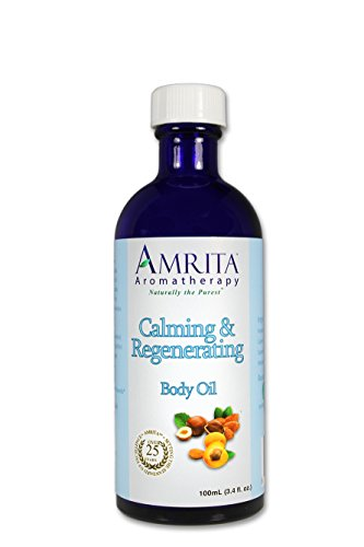 AMRITA Aromatherapy: Calming and Regenerating Massage & Body Oil With Pure and Therapeutic Grade Essential Oils of Mandarin Red & Geranium Rose - SIZE: 100ML